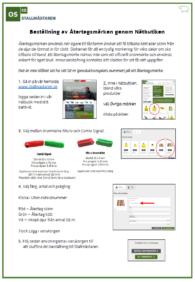 Bild över manual Återtag genom nätbutik